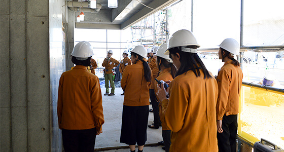 Worksite inspection tour