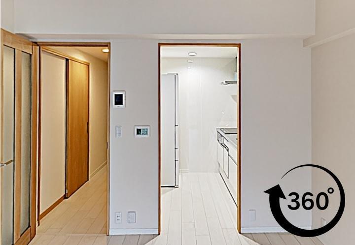和室を洋室にしたリフォーム事例。360°撮影