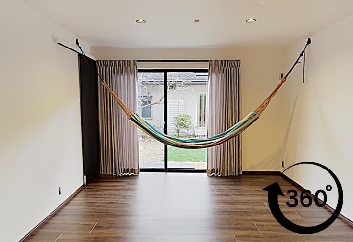 ご実家の1階をリフォームした二世帯同居のリフォーム事例。子供が喜ぶハンモックも。パノラマ事例。360°事例。