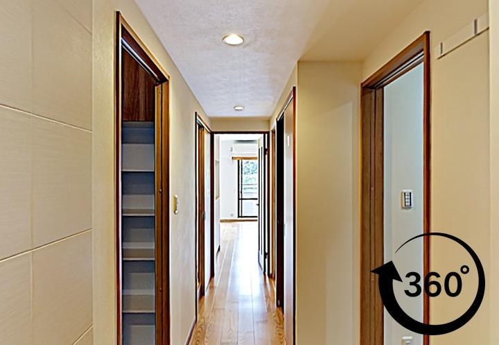 L型キッチンと収納にこだわったリフォーム事例。360°撮影