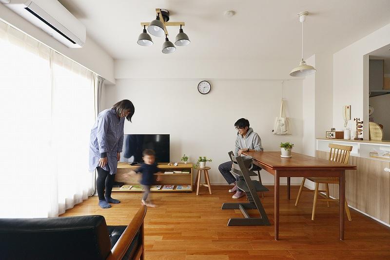 中古マンションを購入して広い玄関土間をつくったリノベーション事例