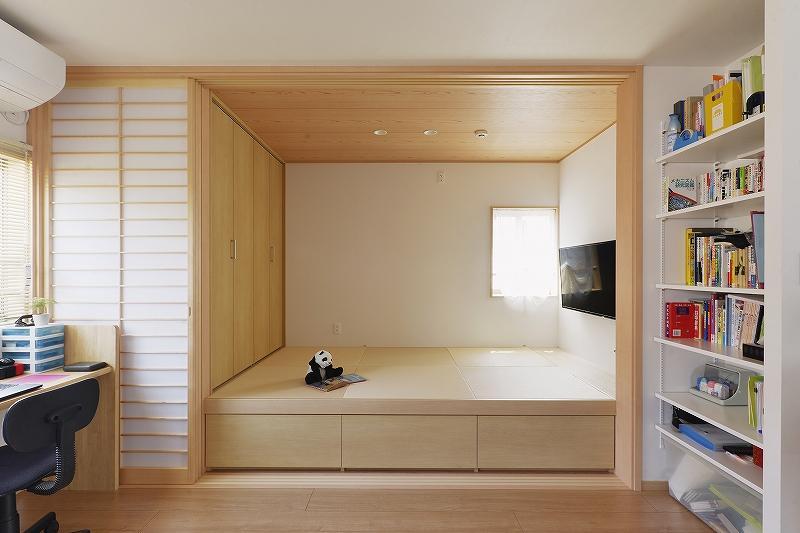 小上がりの和室をつくった戸建リフォーム事例。トイレ移設。洗面室を広げる。